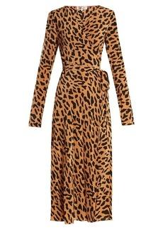 Diane Von Furstenberg Leopard-print silk wrap dress