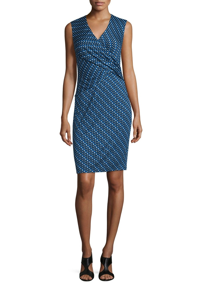 Diane von Furstenberg Leora Silk Diagonal Dots Sheath Dress