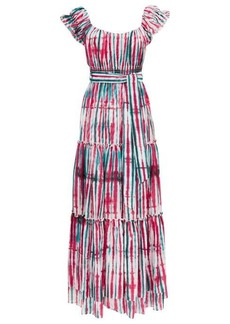 Diane Von Furstenberg Lexie tie-dye tiered cotton-blend dress