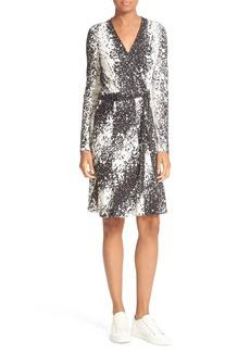Diane von Furstenberg Lilyann Print Silk Wrap Dress