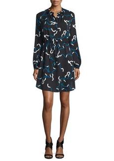 Diane von Furstenberg Lindi Long-Sleeve Printed Shirtdress