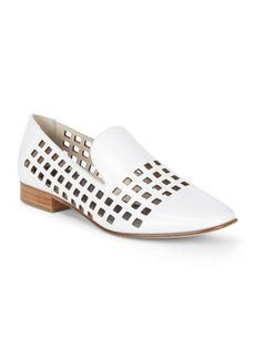 Diane Von Furstenberg Linz Leather Cut-Out Loafers