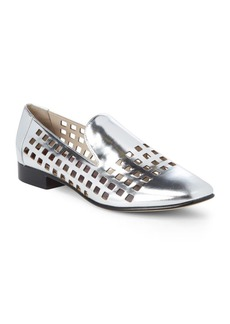 Diane Von Furstenberg Linz Metallic Cut-Out Loafers