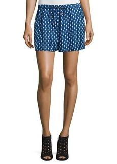 Diane von Furstenberg Liri Printed Silk Drawstring Shorts