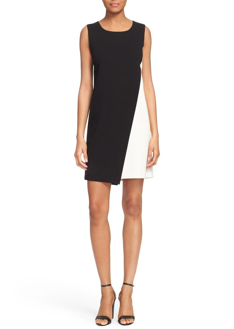 Diane von Furstenberg 'Livvy' Asymmetrical Colorblock Sleeveless Shift Dress