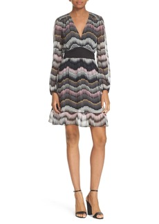 Diane von Furstenberg 'Lizbeth' Trapunto Waist Print Silk Dress