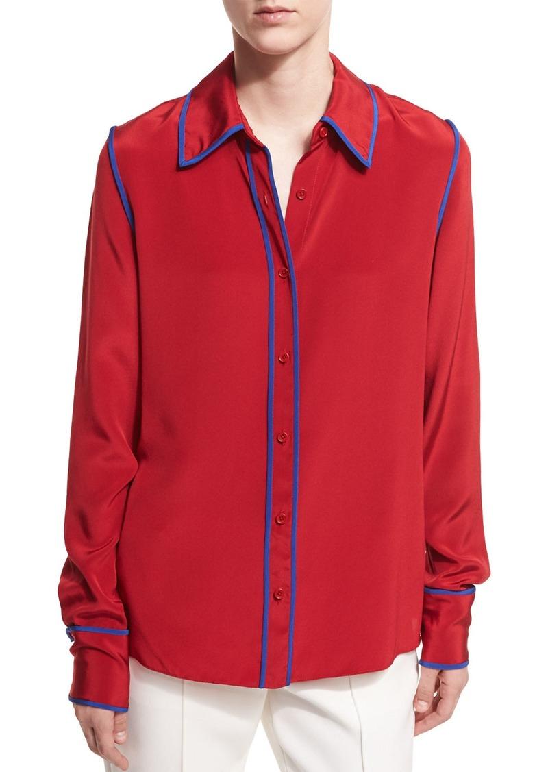 e836ad850ce99 Diane Von Furstenberg Diane von Furstenberg Long-Sleeve Button-Front ...