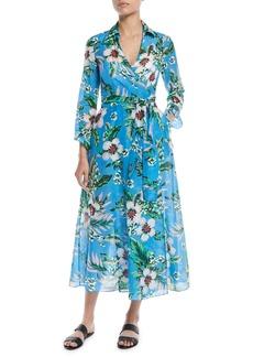 f40a7d8400160 Diane Von Furstenberg Fleurette Floral Silk Shirred Coverup Dress ...