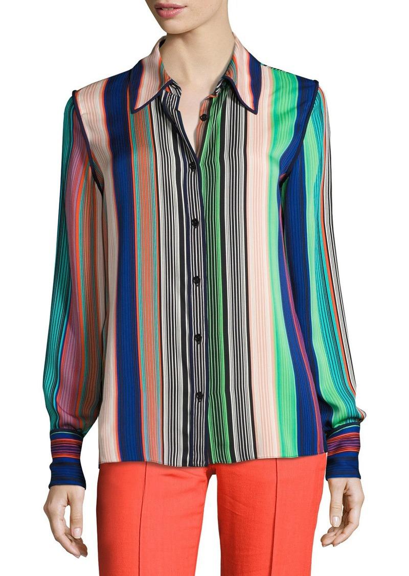 30caa44cdc76f Diane Von Furstenberg Diane von Furstenberg Long-Sleeve Collared ...
