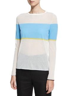 Diane Von Furstenberg Long-Sleeve Crew-Neck-Pullover Sweater