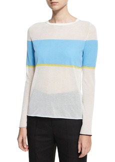 Diane von Furstenberg Long-Sleeve Crew-Neck-Pullover Sweater