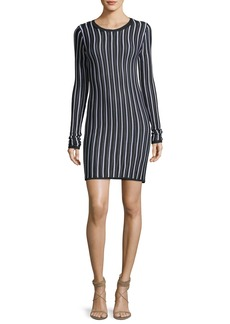 Diane von Furstenberg Long-Sleeve Crewneck Knit Dress