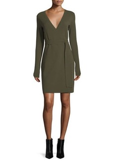 Diane Von Furstenberg Long-Sleeve Knit Wrap Dress