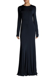 Diane Von Furstenberg Long Sleeve Paneled Gown