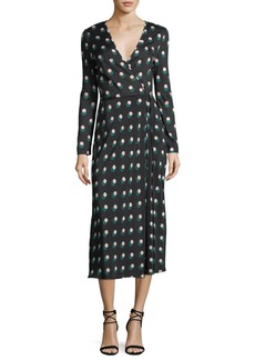 Diane von Furstenberg Long-Sleeve Printed Wrap Dress