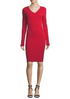 Diane von Furstenberg Long-Sleeve V-Neck Knit Dress