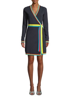 Diane Von Furstenberg Long-Sleeve Wrap Sweater Dress