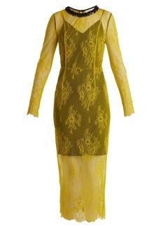Diane Von Furstenberg Long-sleeved bead-embellished lace dress