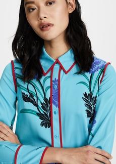 Diane von Furstenberg L/S Collared Shirt