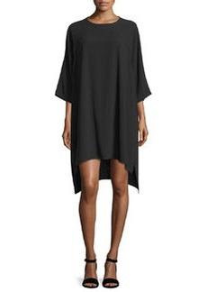 Diane von Furstenberg Madera 3/4-Sleeve High-Low Tent Dress