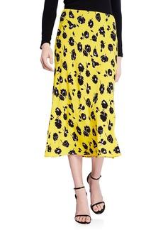 Diane von Furstenberg Mae Floral-Print Midi Skirt
