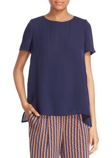 Diane von Furstenberg 'Maggy' Short Sleeve Button Back Silk Blouse