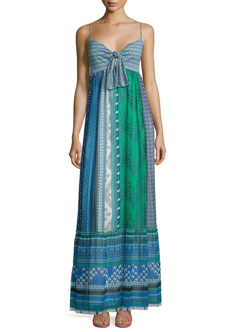 Diane von Furstenberg Malina Square Stamps Silk Maxi Dress