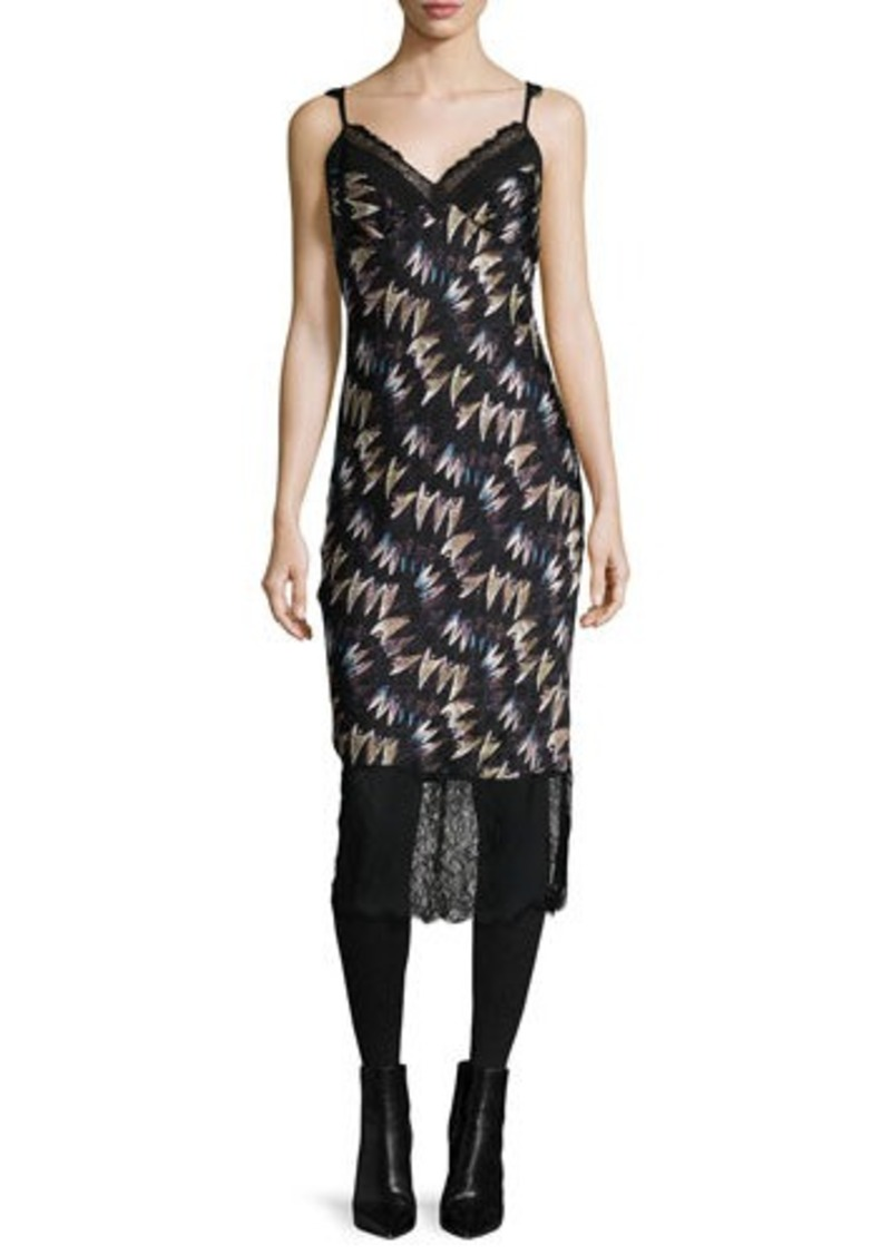 Diane von Furstenberg Margarit Printed Slip Dress