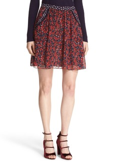 Diane von Furstenberg 'Marisa' Print Silk Skirt