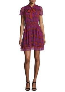 Diane von Furstenberg Marisa Printed Silk Tie-Neck Dress
