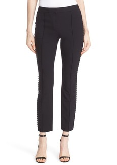 Diane von Furstenberg 'Marjie' Embellished Stretch Wool Ankle Pants