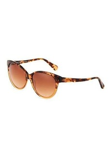 Diane von Furstenberg Martha Two-Tone Acetate Cat-Eye Sunglasses