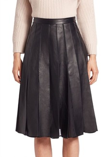 Diane von Furstenberg Melita Godet Leather Skirt