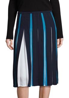 Diane von Furstenberg Melita Silk Two-Tone Skirt
