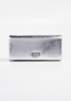 Diane von Furstenberg Metallic Clutch