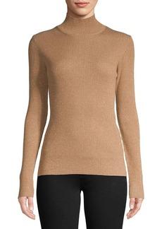 Diane von Furstenberg Metallic Ribbed Sweater