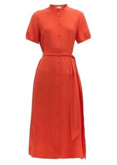 Diane Von Furstenberg Mia belted silk-crepe midi dress
