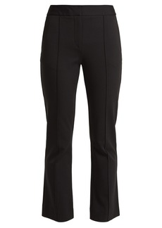 Diane Von Furstenberg Mid-rise flared cropped trousers