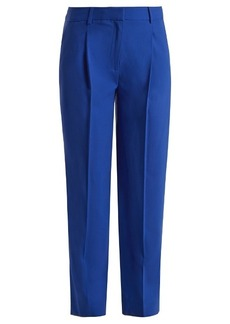 Diane Von Furstenberg Mid-rise straight-leg wool-blend trousers