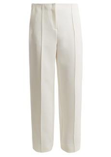Diane Von Furstenberg Mid-rise wide-leg side-striped trousers