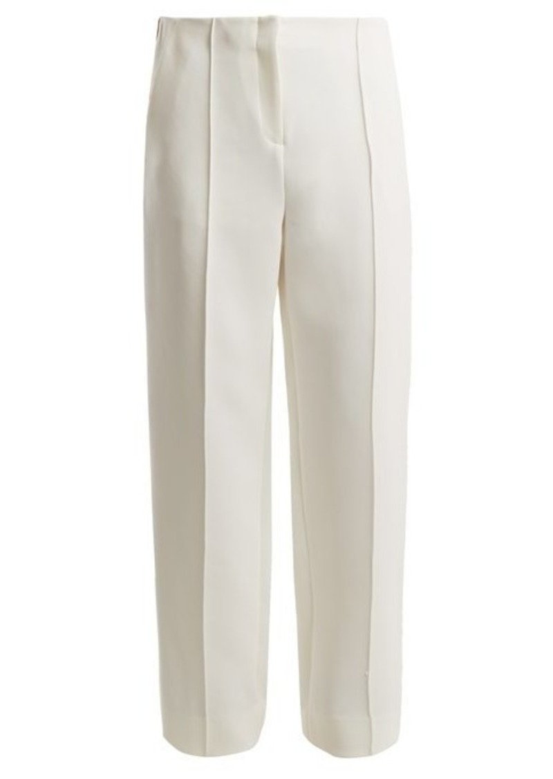 Diane Von Furstenberg Mid-rise wide-leg side-striped trousers