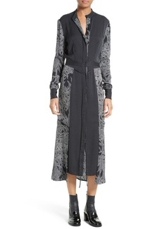 Diane von Furstenberg Midi Stretch Silk Shirtdress