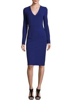 Diane von Furstenberg Milena Long-Sleeve Sheath Dress