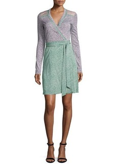 Diane von Furstenberg Mixed Jersey Wrap Dress
