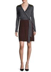 Diane von Furstenberg Mixed Dot-Print Jersey Wrap Dress