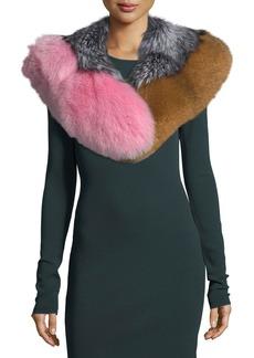 Diane von Furstenberg Multicolor Fox-Fur Shawl