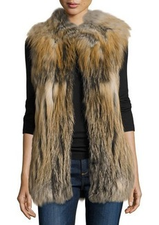 Diane von Furstenberg Multicolored Fox Fur Vest
