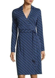 Diane von Furstenberg New Jeanne Two Dash-Print Wrap Dress