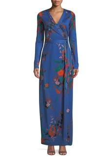 Diane von Furstenberg New Julian Floral-Print Silk Wrap Dress