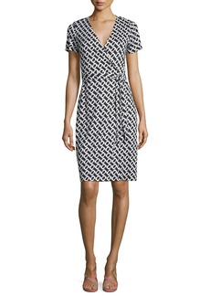 Diane von Furstenberg New Julian Two Silk Chain Link Wrap Dress